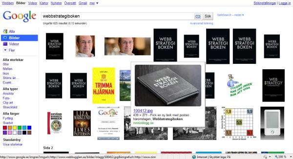 Google bildsök webbstrategiboken