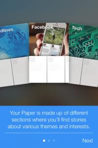 Facebook paper startar upp